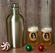 Growler Gift Set with Beer Can Glasses
