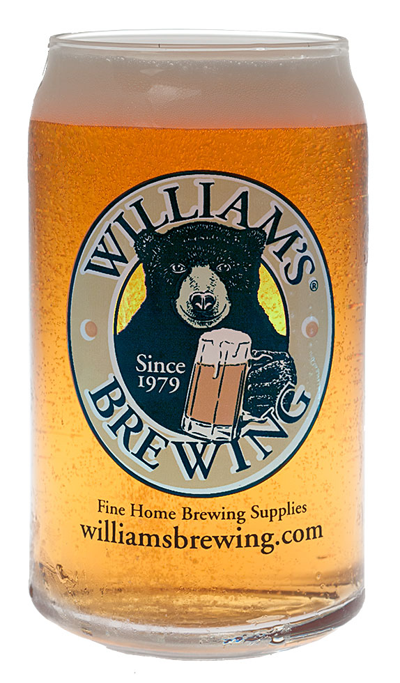 William's Nucleated Beer Can Glass
