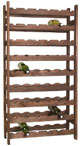 54 BOTTLE WOODEN WINE RACK