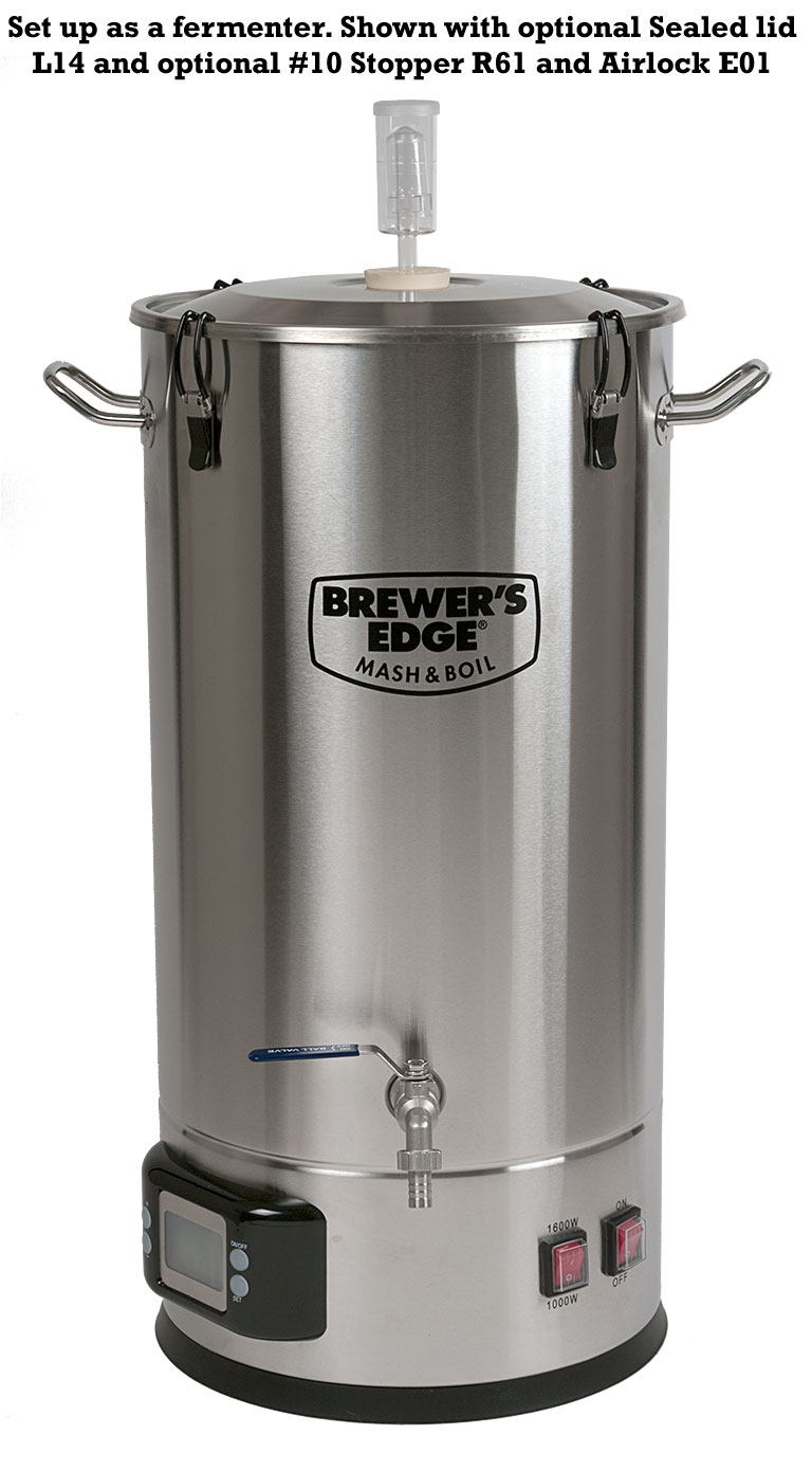 Brewers Edge Mash Boil Wire 240v Electric Brew Pot Controller Home Forums This Shows Optional Lid L14 With A 10 Stopper And Airlock As Fermenter