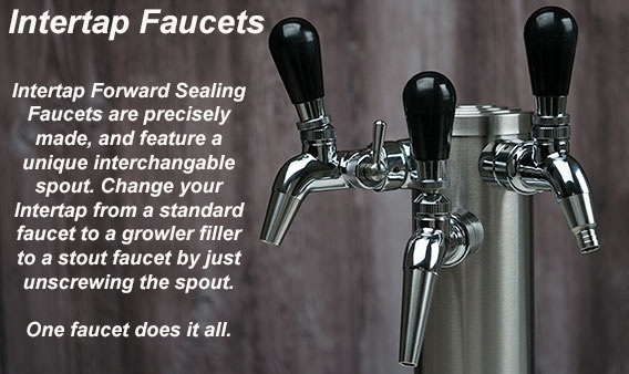 beer chrome components draft faucets standard faucet systems