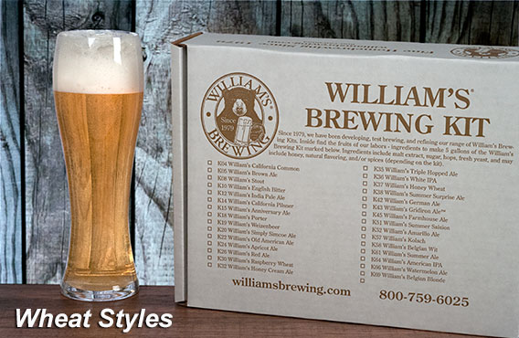 The best home beer brewing kits for sale are at William's Brewing
