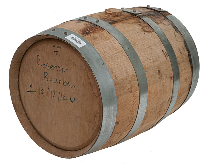 Drained 5 Gallon Reservoir Bourbon Barrel