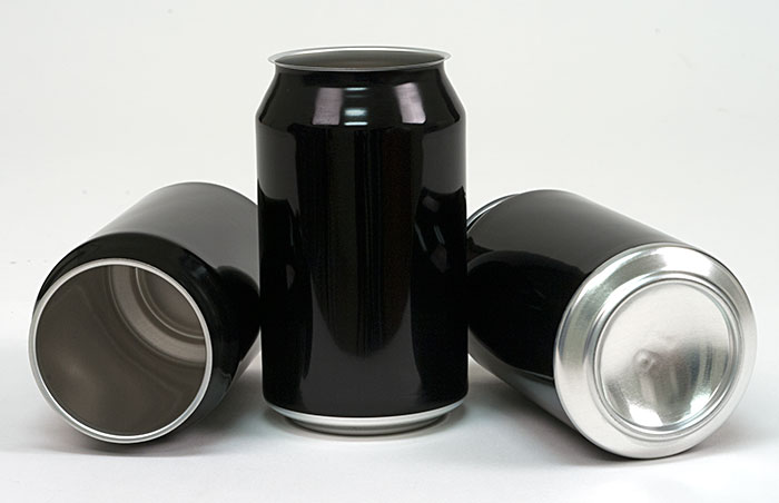 330 ml Black Full Aperture Aluminum Cans & Lids (case of 300)