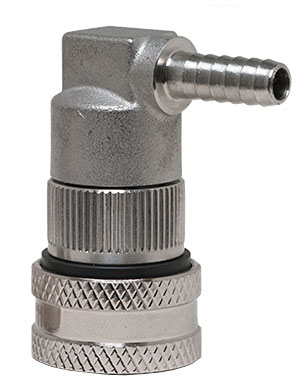 Keg Land Stainless Beer Ball Lock Barbed