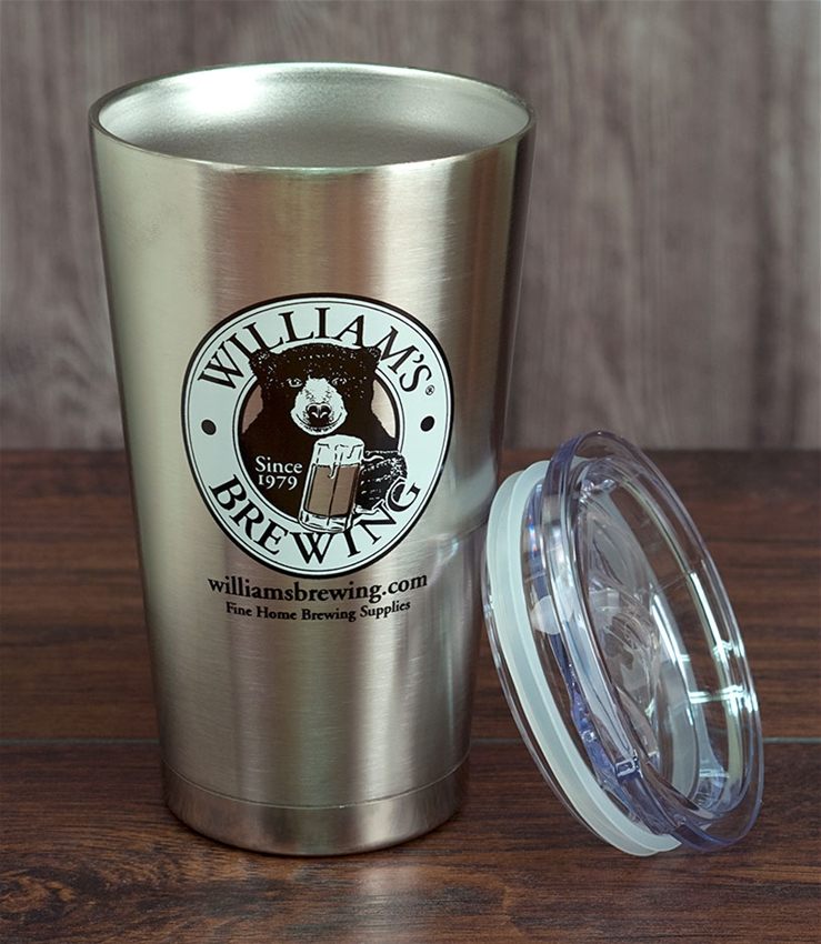 William's Vacuum Insulated Beer & Coffee Pint Glass